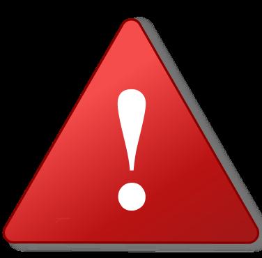 señal de warning